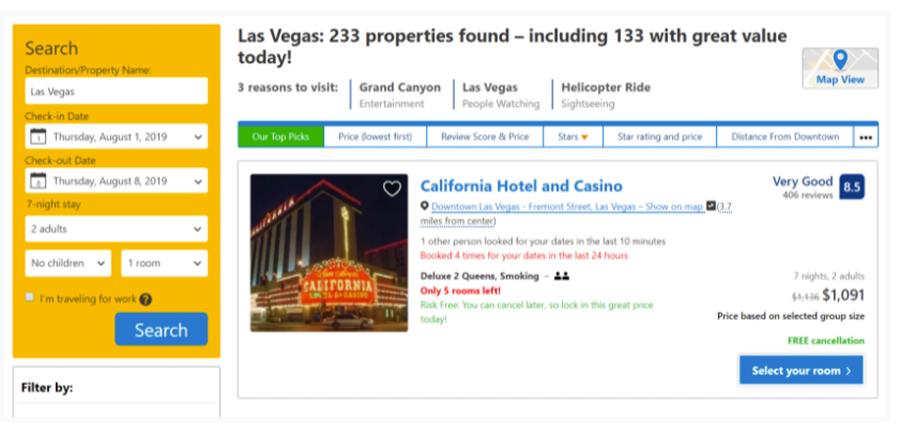 CyberGhost VPN cena hotelu US IP