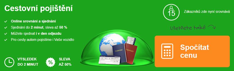 ePojištění - cestovní pojištění