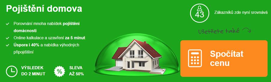 ePojištění - pojištění domácnosti a nemovitosti