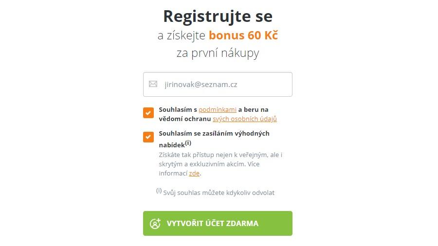 PlnáPeněženka - registrace