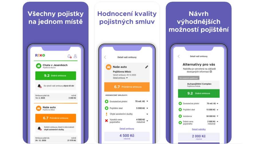 RIXO - mobilní aplikace