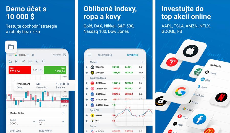 RoboMarkets - mobilní aplikace