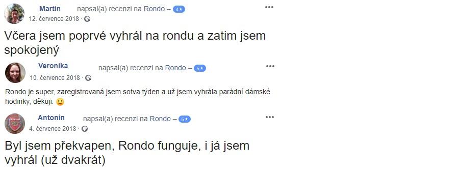 Rondo - uživatelské recenze