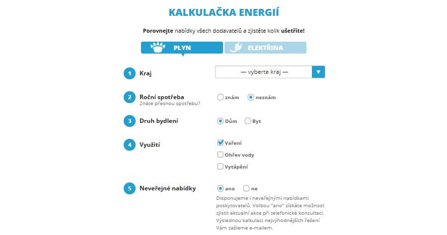 Tarifomat - kalkulačka energií