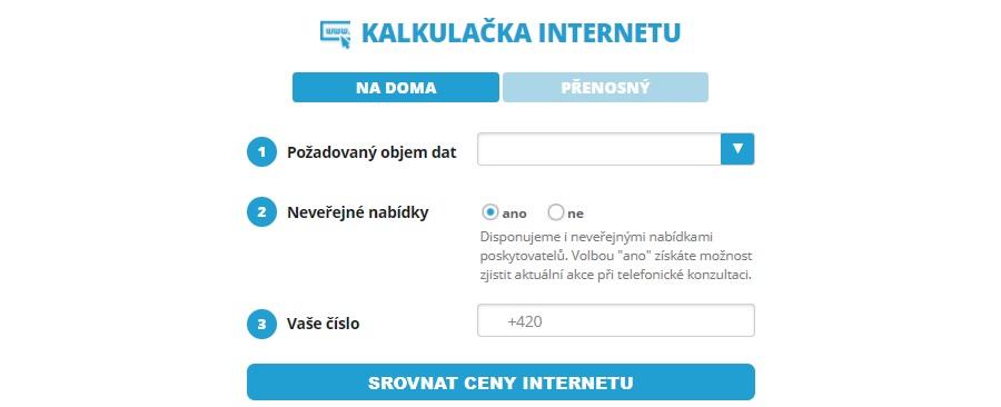 Tarifomat - kalkulačka internetu