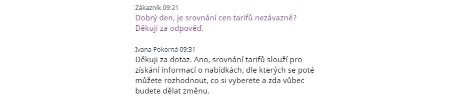 Tarifomat - online chat