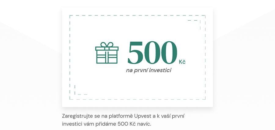 Upvest.cz bonus 500 Kč zdarma