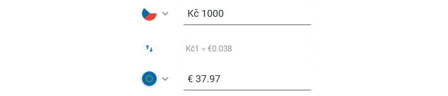 Revolut směnný kurz